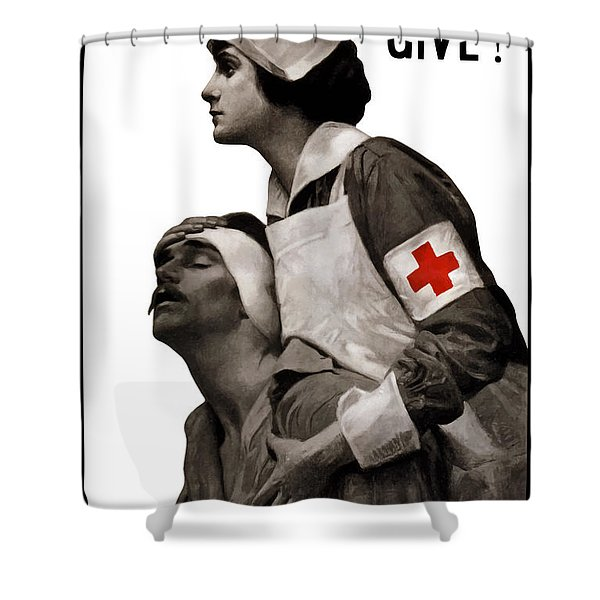 In The Name Of Mercy Give Shower Curtain by War Is Hell Store