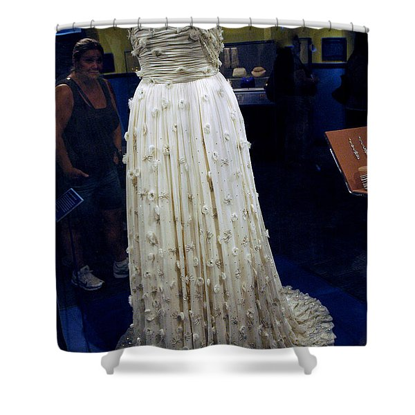 Inaugural gown on display Shower Curtain by LeeAnn McLaneGoetz McLaneGoetzStudioLLCcom