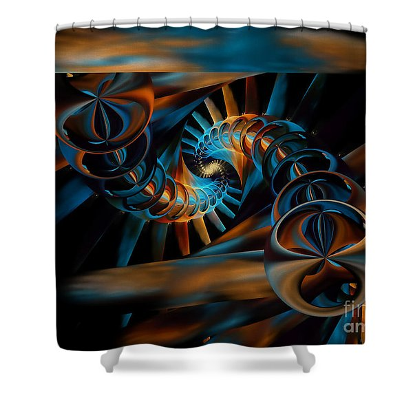 Inception Abstract Shower Curtain by Olga Hamilton