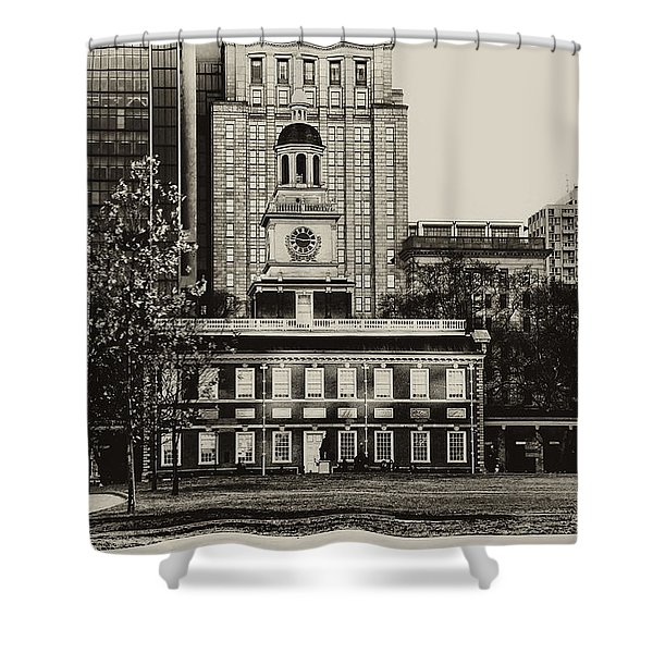 Independence Hall Shower Curtain by Bill Cannon