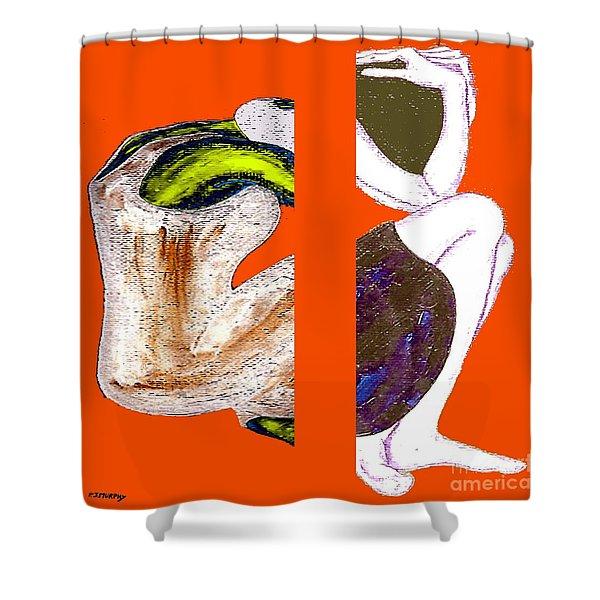 Inside The Heart Shower Curtain by Patrick J Murphy