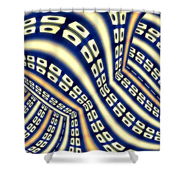 Interchange Shower Curtain by Paul Wear