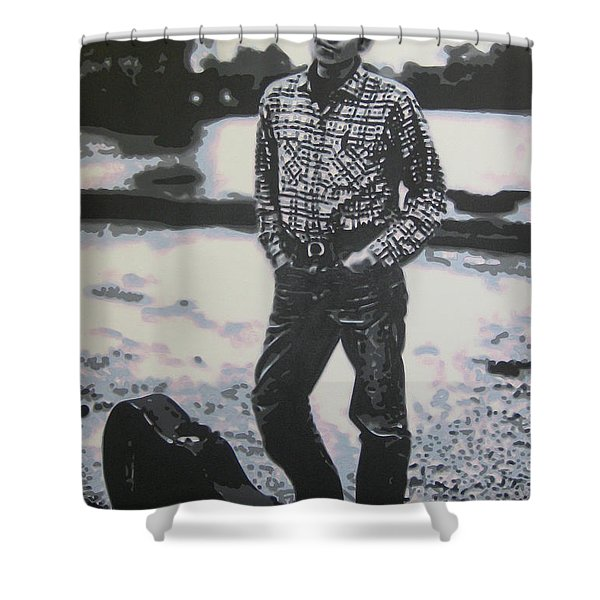 Is there no one here that knows where Im at Shower Curtain by Luis Ludzska