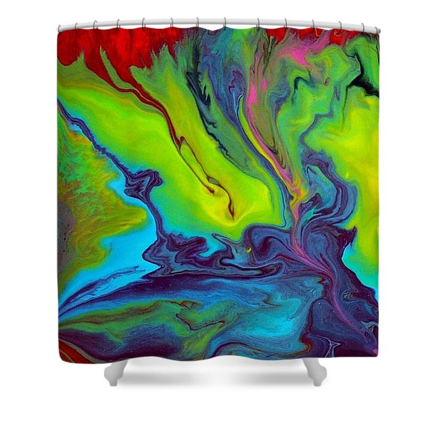 Island Tropicale Diptych I Shower Curtain by Holly Anderson