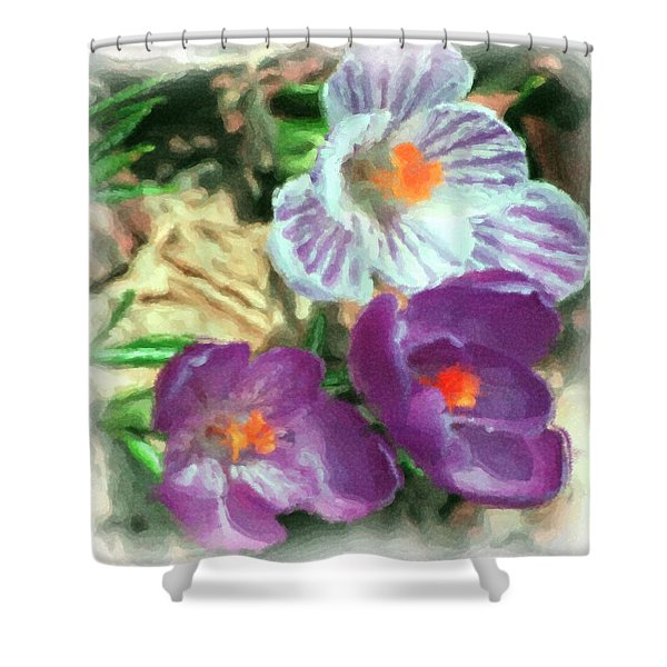 Ist Flowers In The Garden 2010 Shower Curtain by David Lane