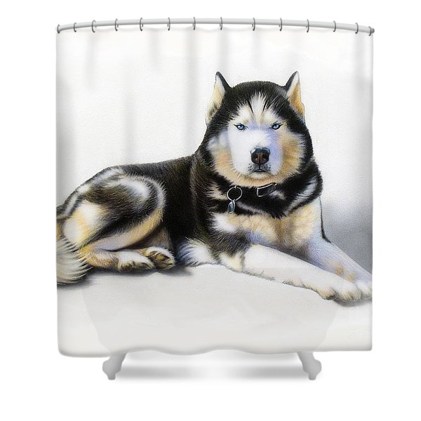 Jacob Shower Curtain by Sandi Baker