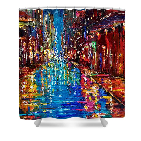 Jazz Drag Shower Curtain by Debra Hurd