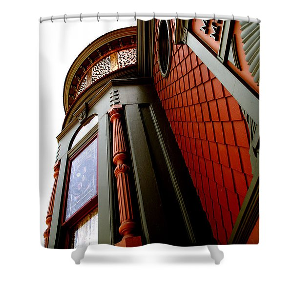Jesse's Home Shower Curtain by Linda Knorr Shafer