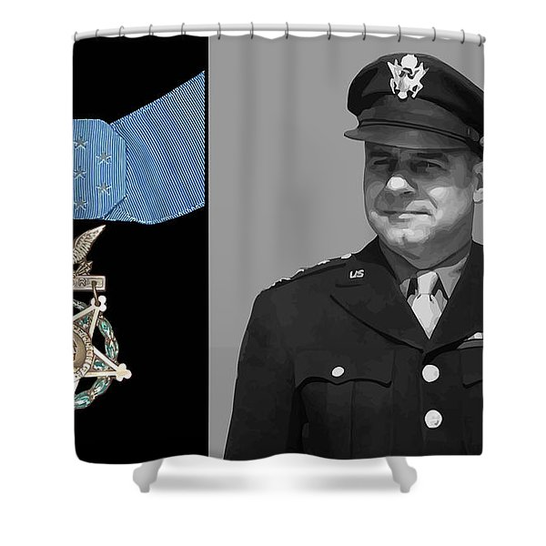 Jimmy Doolittle and The Medal of Honor Shower Curtain by War Is Hell Store