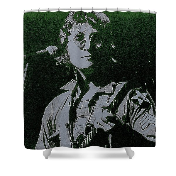 John Lennon Shower Curtain by David Patterson