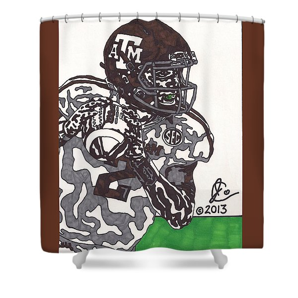 Johnny Manziel 8 Shower Curtain by Jeremiah Colley