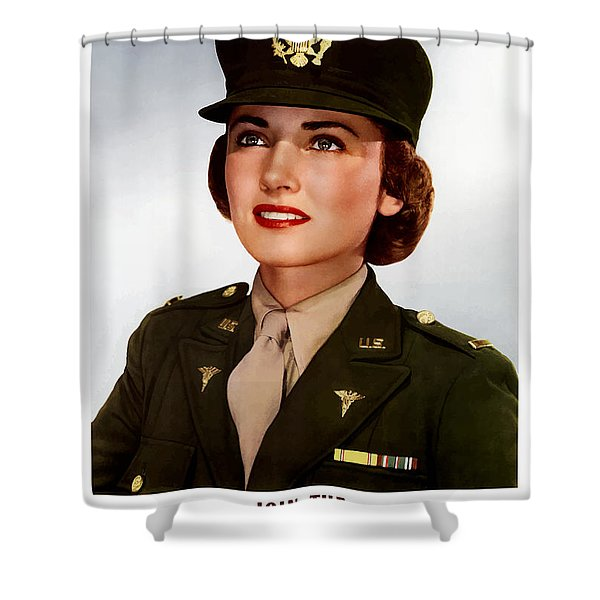 Join The Army Nurse Corps Shower Curtain by War Is Hell Store
