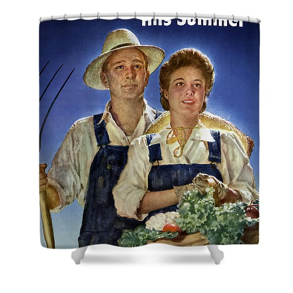 Join The U.s. Crop Corps Shower Curtain by War Is Hell Store