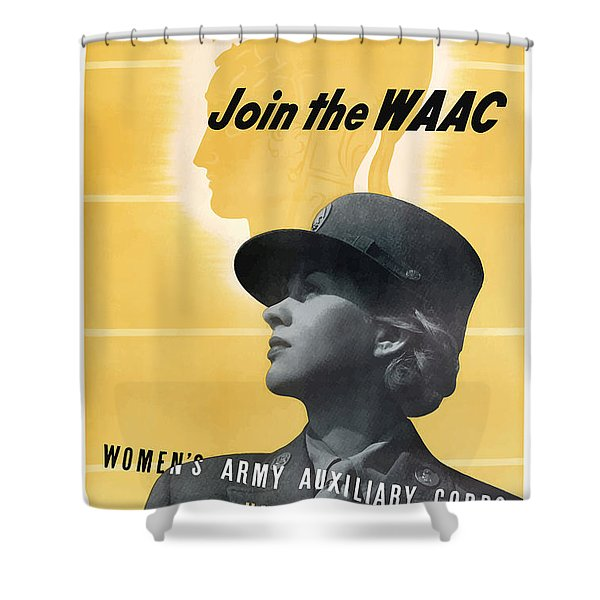 Join The Waac Shower Curtain by War Is Hell Store