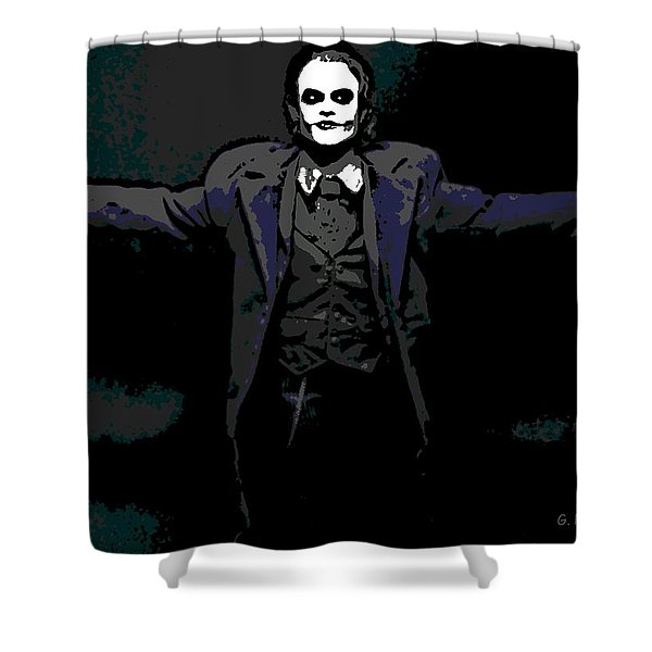 Joker Shower Curtain by George Pedro