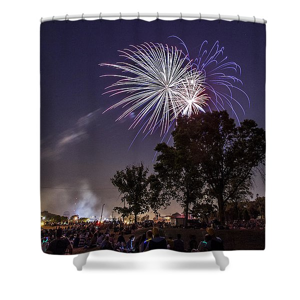 July 4th 2012 Shower Curtain by CJ Schmit