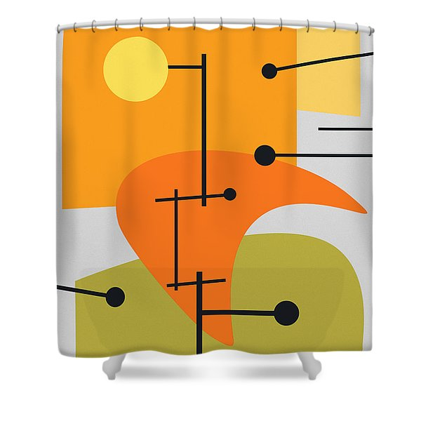 Juxtaposing Thoughts Shower Curtain by Richard Rizzo