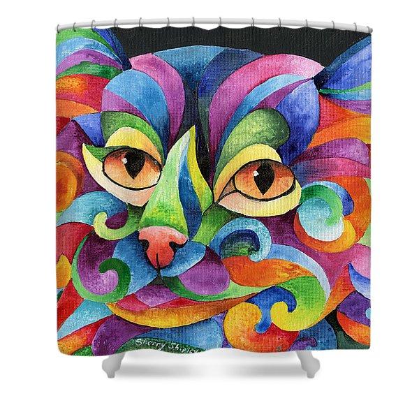 Kalidocat Shower Curtain by Sherry Shipley