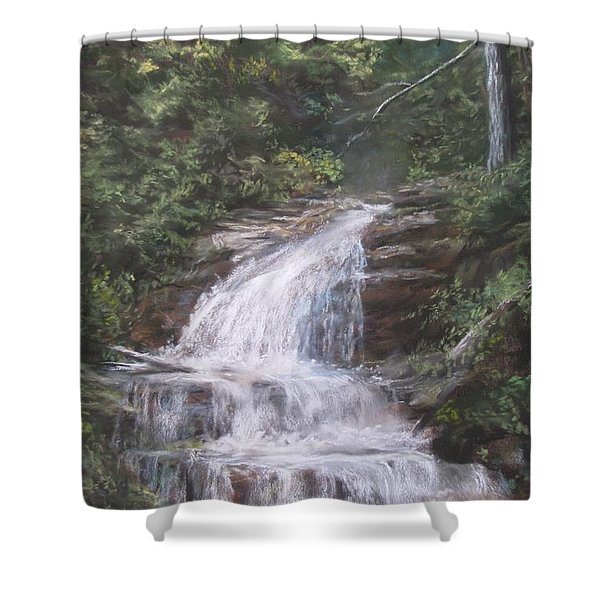 Kent Falls Shower Curtain by Jack Skinner