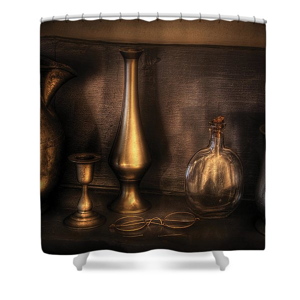 Kettle - Ready For A Drink Shower Curtain by Mike Savad