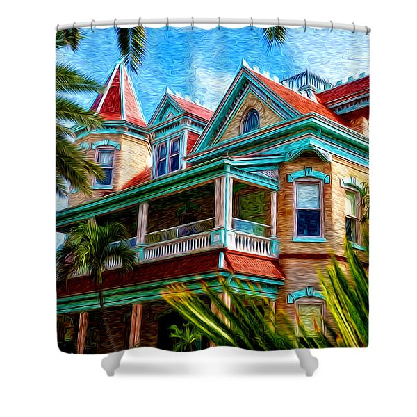 Key West Southern Most Hotel Shower Curtain by Bill Cannon