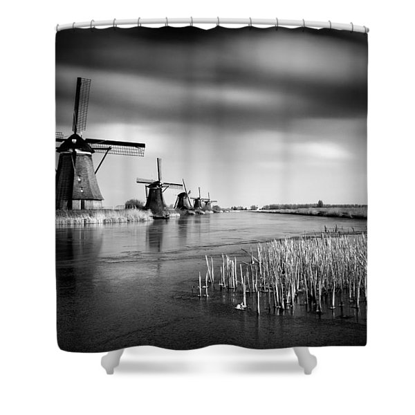 Kinderdijk Shower Curtain by Dave Bowman