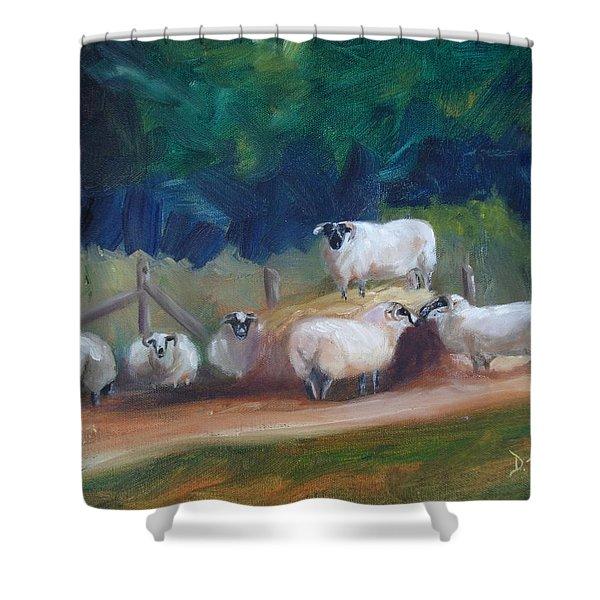 King of Green Hill Farm Shower Curtain by Donna Tuten