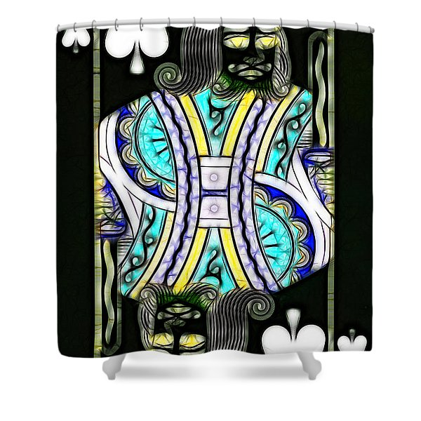 King Of Spades - V2 Shower Curtain by Wingsdomain Art and Photography