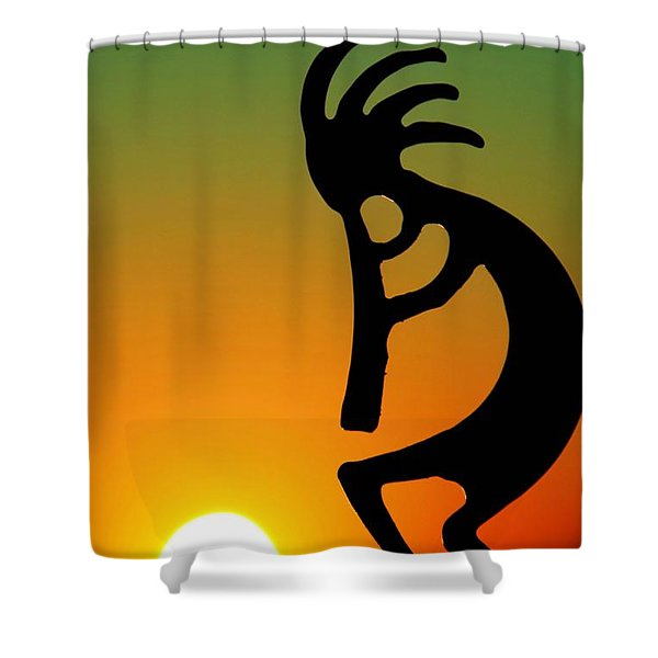 Kokopelli Shower Curtain by Mitch Cat