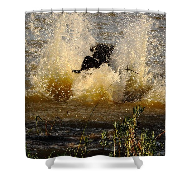 Lab At Work Shower Curtain by Robert Frederick