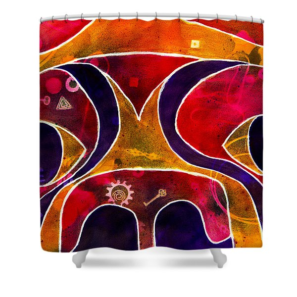 Labstract Shower Curtain by Roger Wedegis