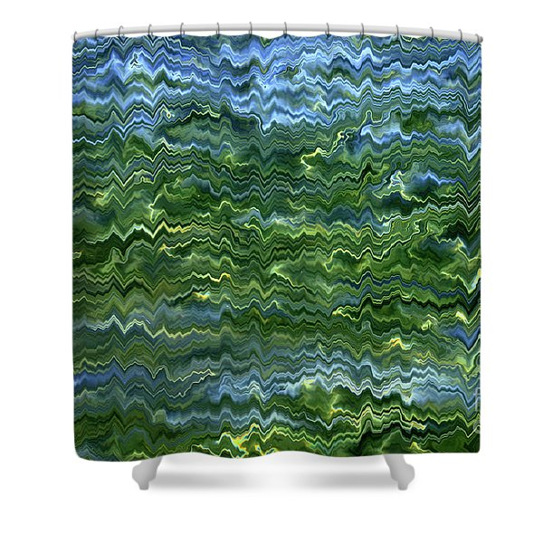 Lake Tahoe Abstract Shower Curtain by Carol Groenen