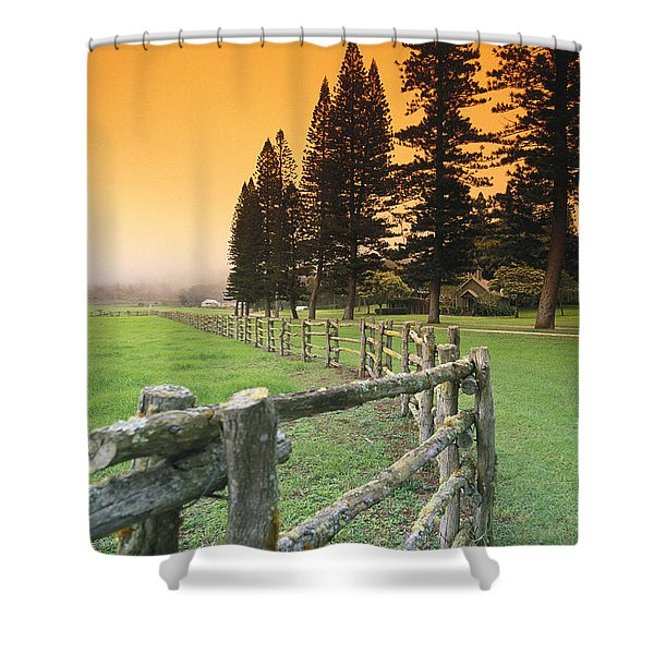 Lanai, City View Shower Curtain by Ron Dahlquist - Printscapes