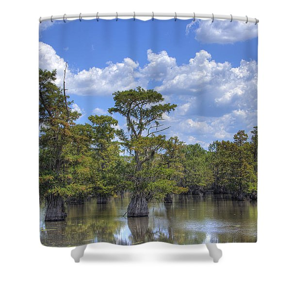 Largemouth Country Shower Curtain by Barry Jones