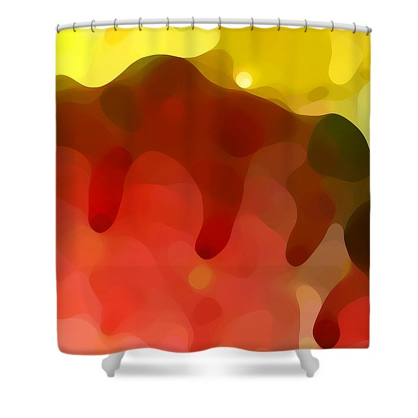 Las Tunas Ridge Shower Curtain by Amy Vangsgard