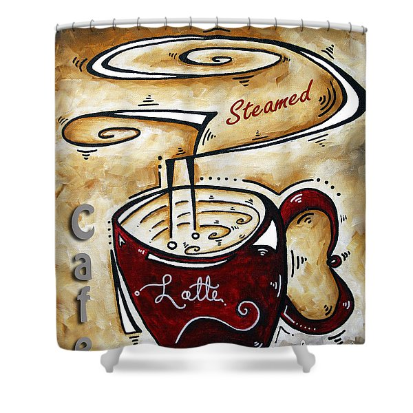 Latte by MADART Shower Curtain by Megan Duncanson