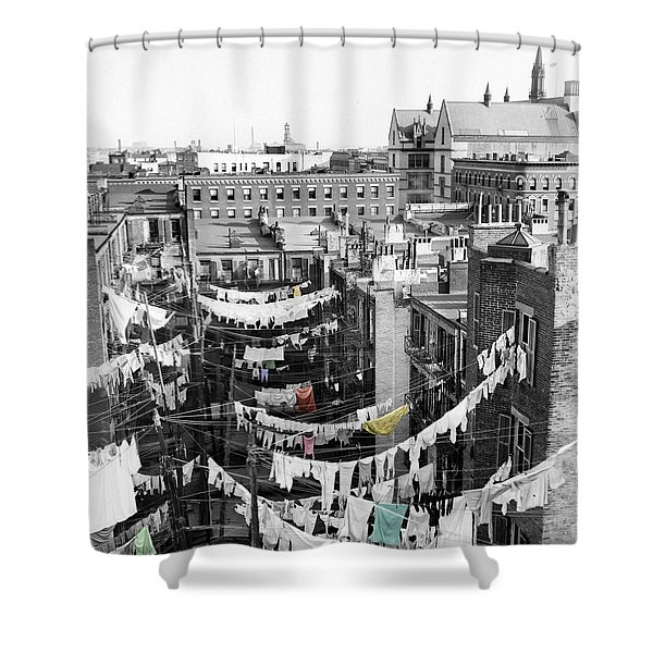 Laundry Day Shower Curtain by Andrew Fare