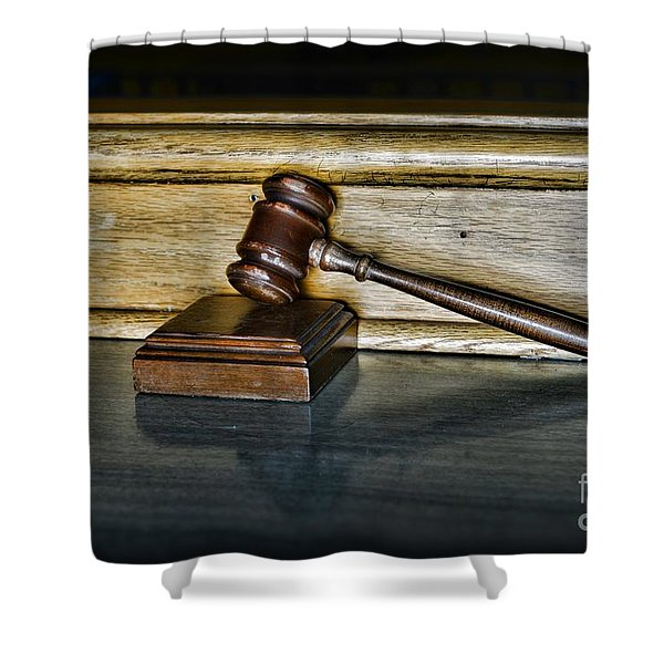 Lawyer - The Judge's Gavel Shower Curtain by Paul Ward