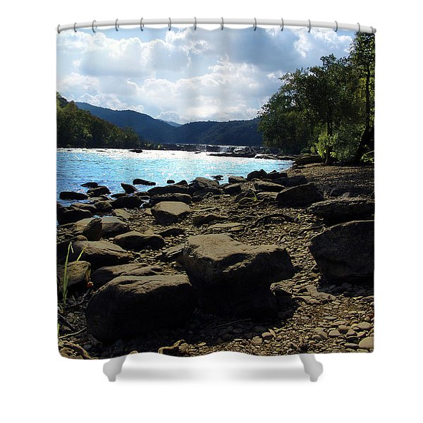 Layers of beauty II Shower Curtain by Lj Lambert