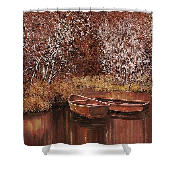 le barche sullo stagno Shower Curtain by Guido Borelli