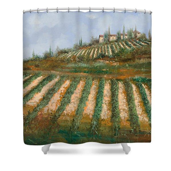 le case nella vigna Shower Curtain by Guido Borelli