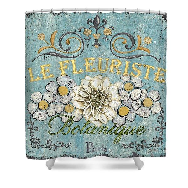 Le Fleuriste de Bontanique Shower Curtain by Debbie DeWitt