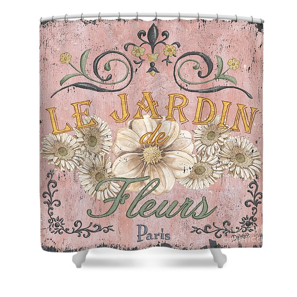 Le Jardin 1 Shower Curtain by Debbie DeWitt