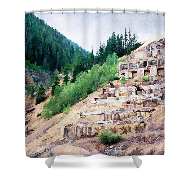 Leftovers from Sunnyside Mill Shower Curtain by Lana Trussell
