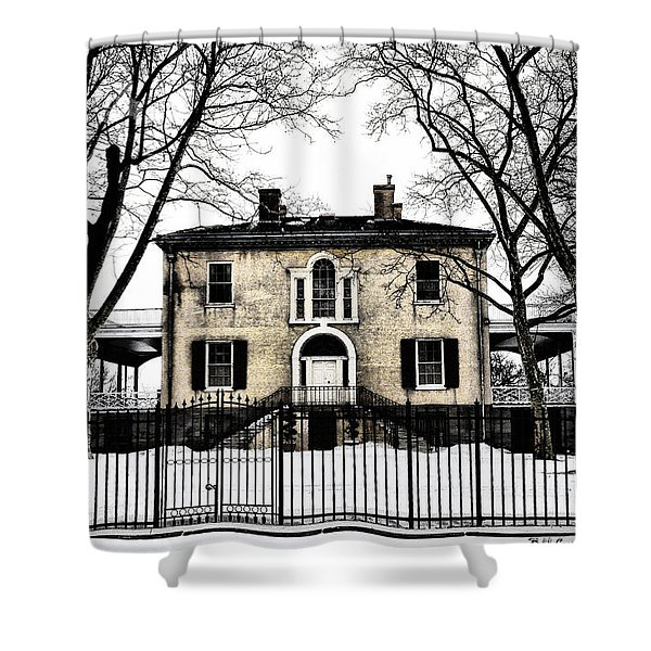 Lemon Hill Mansion - Philadelphia Shower Curtain by Bill Cannon