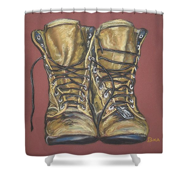 Lest We Forget Shower Curtain by Dianne  Ilka