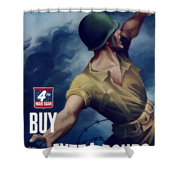 Let Em Have It Shower Curtain by War Is Hell Store
