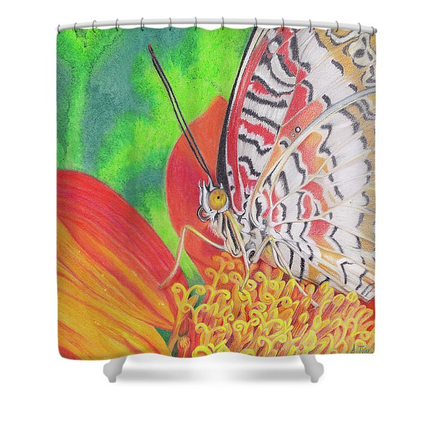 Let Go Shower Curtain by Amy Tyler