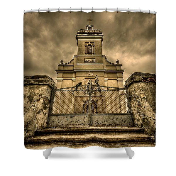 Let Love In Shower Curtain by Evelina Kremsdorf