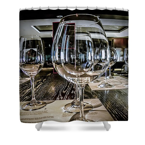 Let The Wine Tasting Begin Shower Curtain by Julie Palencia